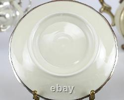 13pc Set Hertel Jacob Bavaria Germany Silver Overlay on Porcelain Coffee Service