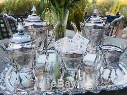 1850 Antique 6-PC. Silver Plated Tea Set