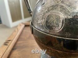 1860s Gorham 5pc Medallion Pattern Tea Service Set Silver Soldered (#0100)