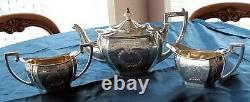 1900's CANADIAN STERLING SILVER TEA SET GEORGE III STYLE 923gr. RODEN BRO. LTD