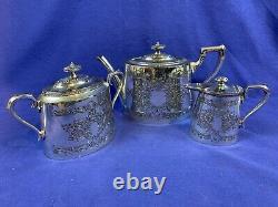 1920's James Dixon & Sons Victorian Tea Set Very Ornate Design 12
