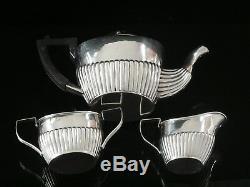 3 Piece Silver Tea Set, Birmingham 1896, John Millward Banks
