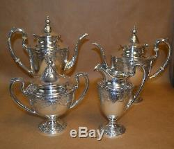 4 Piece Gorham Cinderella Sterling Silver Tea Service Set 2113g No Monos
