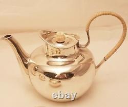 4-Piece Michelsen Danish Sterling Silver Coffee & Tea Set