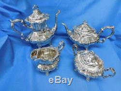 (4pc) Gorham Strasbourg Sterling Silver Tea Set Recent Estate Purchase J951