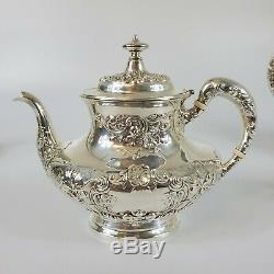 5 Piece Gorham Buttercup Tea Coffee Service Set Sterling Silver Sugar Dish