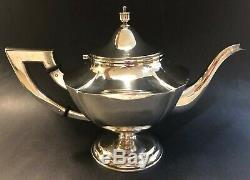 5-Piece Japanese Okubo Brothers 950 Sterling Silver Tea/Coffee Set
