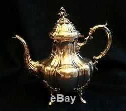 5 Piece Reed & Barton Sterling Silver Tea Set Bradford Pattern