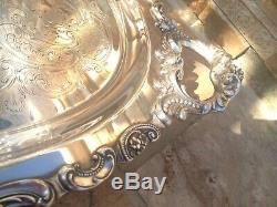 6 Pc Museum Quality Wallace Grande Baroque Sterling Silver Tea Set + Tray Grand