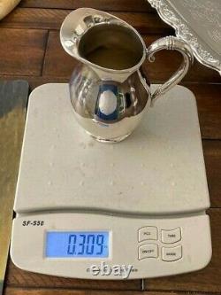 6 Pc Nice Heavy Royal Danish Coffee / Tea Set International Sterling + New Tray