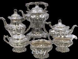 6-Piece Sterling Silver Gorham Chantilly Grand Tea & Coffee Set