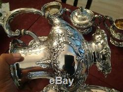 7 Piece Reed & Barton Francis I Sterling Tea Set W Tray And Kettle 396 Troy Oz