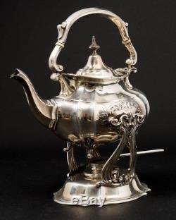 7Piece Reed & Barton Sterling Silver #663 Hampton Court Shield Coffee & Tea Set
