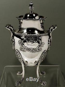 A. E. Warner Silver Kettle TEA SET c1840 BALTIMORE 64 OUNCES