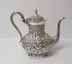 A. G. Schultz Baltimore REPOUSSE Sterling Silver 5-Piece Coffee / Tea Set