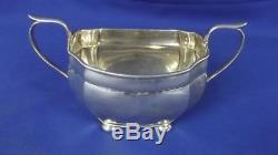 A George V Silver Three-Piece Tea Set Birmingham 1929