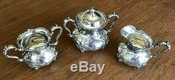 A Set Of 7 Pieces Antique Pairpoint Silver Plate Tea Coffee Set