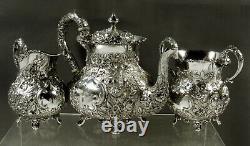 AG Schultz Sterling Tea Set 1901 HAND MADE
