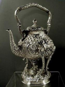 AG Schultz Sterling Tea Set Kettle & Stand c1905 88 Oz