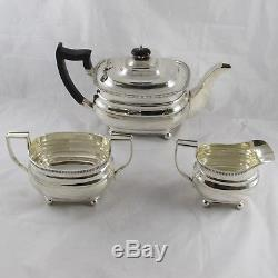 ANTIQUE GEORGIAN 1780 STYLE HEAVY SOLID STERLING SILVER TEA SET 1187 g
