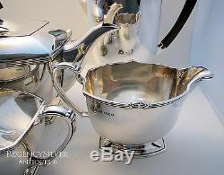 ART DECO 4-Piece SOLID SILVER Teaset Coffee Pot Sugar Bowl Milk Jug Tea Service