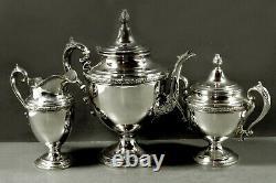 Alvin Sterling Tea Set c1920 ROMANTIQUE