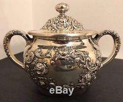 Antique (1899) Sterling Silver Gorham Tea/Coffee Set (A3550)
