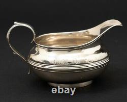 Antique 4-Piece Coin Silver Tea Service Set Dog Finial Mudge & Co New York 1800s