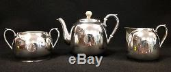 Antique Art Deco Sterling Silver Tea Set HODGSON & KINNARD