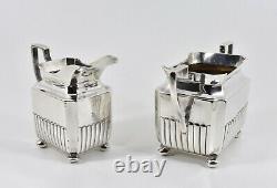Antique Bachelors Art Deco 3 Piece Solid Silver Tea Set (Henry Stratford, 1931)