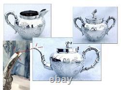 Antique Chinese export Sterling Silver Teas Set Splendid Decor