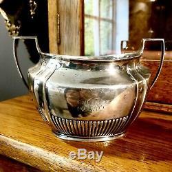 Antique Edwardian SOLID SILVER tea service set by H. S LD Henry Stratford