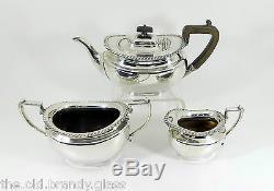 Antique Edwardian Silver Plated 3 Piece Tea Set (James Dixon & Sons, c1905)