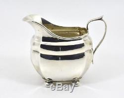 Antique English Solid Silver 3 Piece Tea Set (S Blanckensee, 1926, 860g)