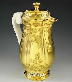 Antique French Vermeil Sterling Silver Regency BOULENGER BERAIN Tea Coffee Set