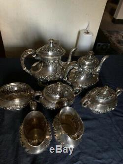 Antique GORHAM Sterling silver Tea Set 7 Pieces