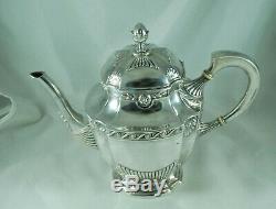 Antique German 800 Grade Silver Tea & Coffee Set Retailed Hugo Schaper 1254g A60