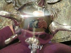Antique Newport Gorham Silver Plate Coffe/tea Service Set 5 Piece