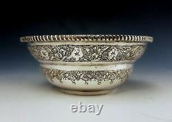 Antique Persian Style Middle Eastern Islamic Solid Silver Samovar Tea Set 1130g