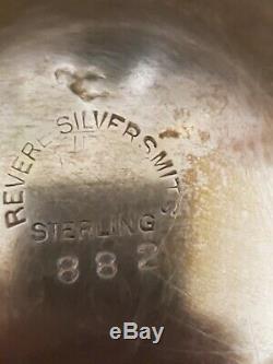 Antique Revere Sterling Silver Tea & Coffee Set Hollowware Floral & Scroll 62 oz