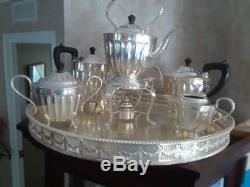 Antique Sheffield, electroplate silver plate tea set