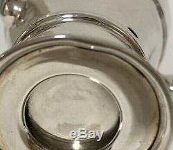 Antique Solid Sterling Silver Bachelors Tea Set Teapot Milk Jug Sugar Bowl 1908