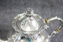 Antique Sterling. 925 Silver 4 Piece Tea/Coffee Set Handerbeit 4 lbs 7 oz