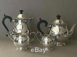 Antique Sterling Silver 4 X Piece Tea Set, 1028, Gms, Birm 1927, Deakin & Francis