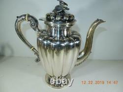Antique Sterling Silver 5 piece tea set #1 Sanborns Mexico Floral covers