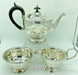 Antique Sterling Silver Sheffield 1930 Viners Ltd Tea Set 684 Grams