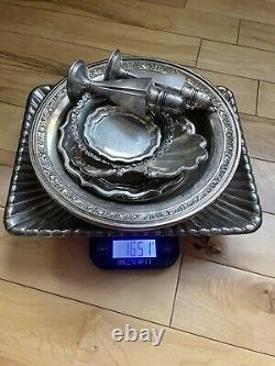 Antique Sterling Silver Tea Set, Bowls Lot Scrap Or Not- 3299 Grams