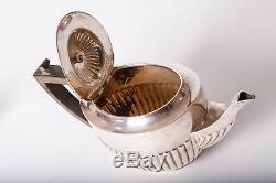 Antique Tea Set Silver Plated William Hutton Sons Goldsmith Silversmiths CO