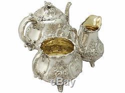 Antique Victorian Sterling Silver Three Piece Tea Set