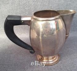 Antique coffee tea set 4 pieces jugs pitchers Art Deco France 1930's silverplate